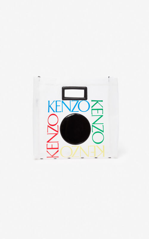 WHITE 'Square Logo' tote bag for unisex KENZO