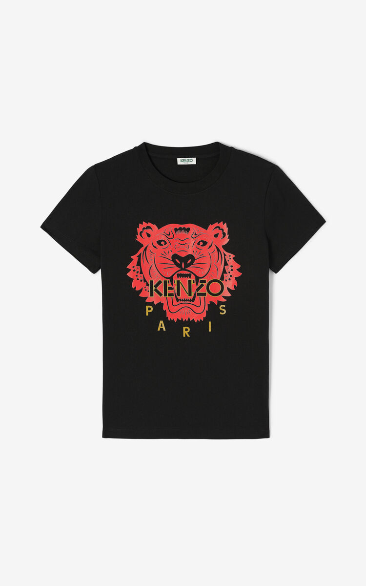 BLACK 'Chinese New Year Capsule' Tiger t-shirt for women KENZO