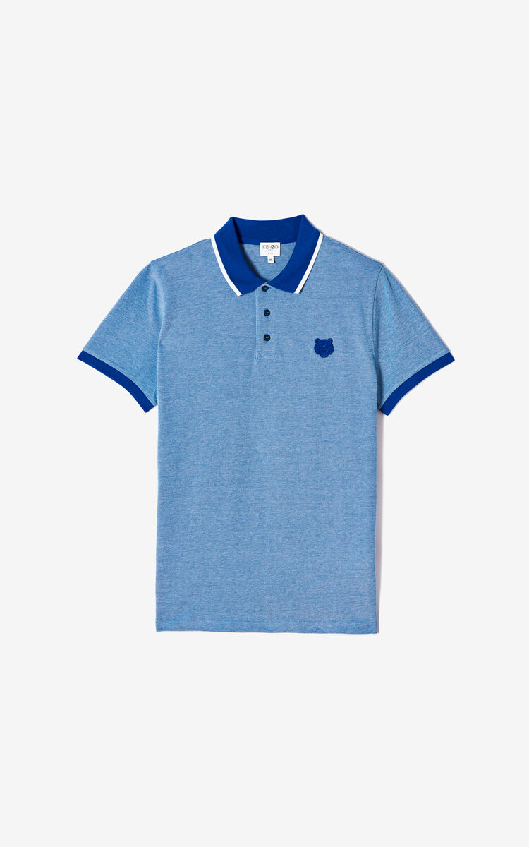 SLATE BLUE Fitted Tiger polo shirt は メンズ KENZOのために