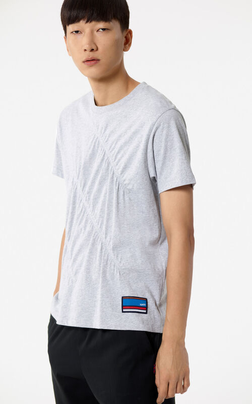PEARL GREY Gathered t-shirt for men KENZO