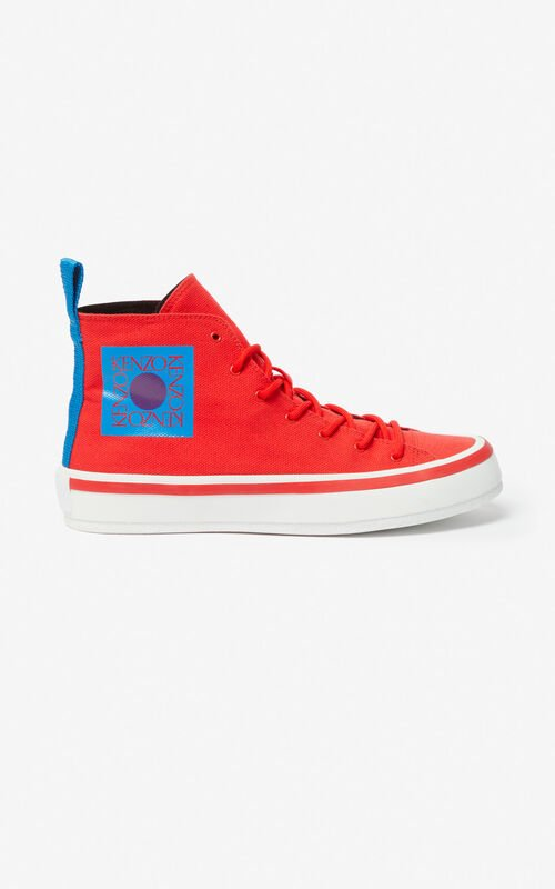 MEDIUM RED 'Square Logo' K-Street sneakers for men KENZO