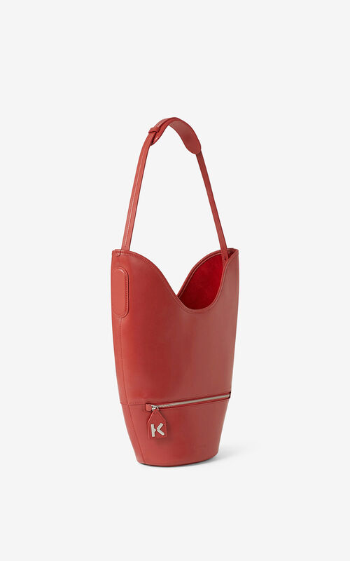 POPPY KENZO Onda leather bucket bag for unisex