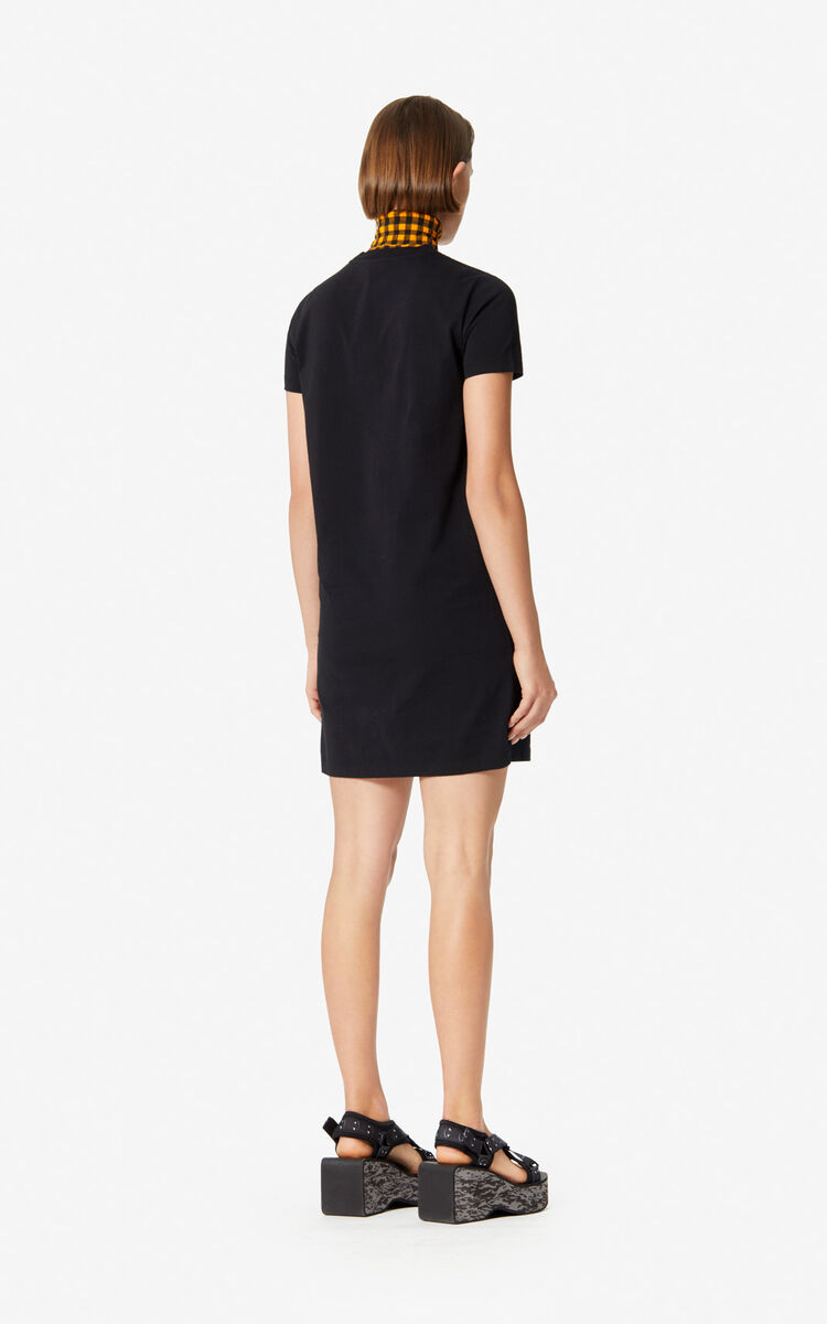 BLACK 'Tiger Square' tee dress for women KENZO