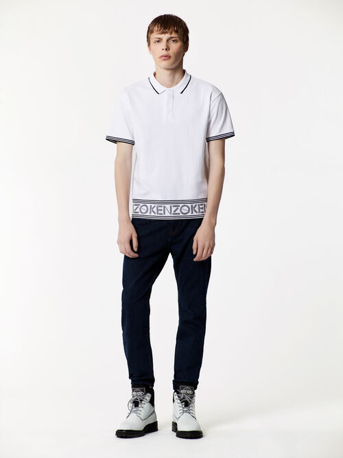 WHITE KENZO Logo Polo for men