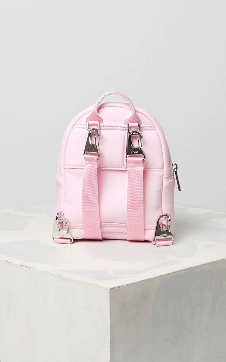 FLAMINGO PINK Mini neoprene Tiger backpack for unisex KENZO
