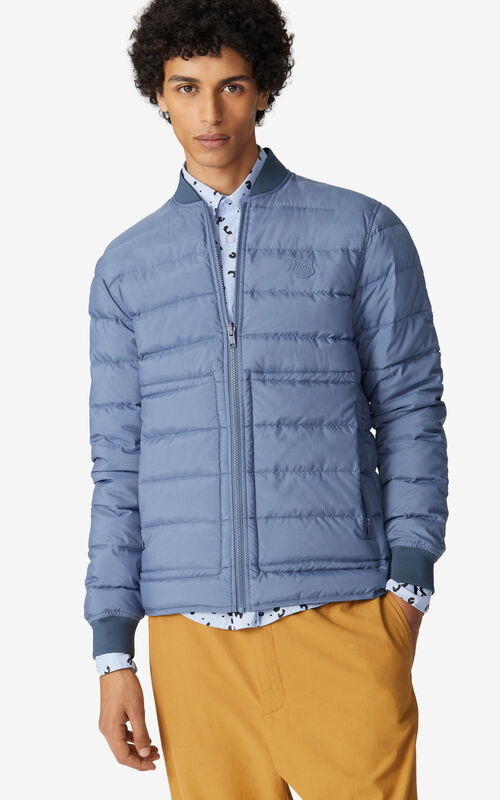 BLUE Reversible quilted jacket for men KENZO
