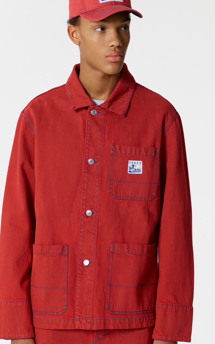 MEDIUM RED Denim jacket for women KENZO