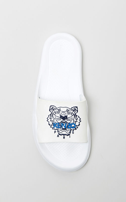 WHITE Tiger sandals for women KENZO