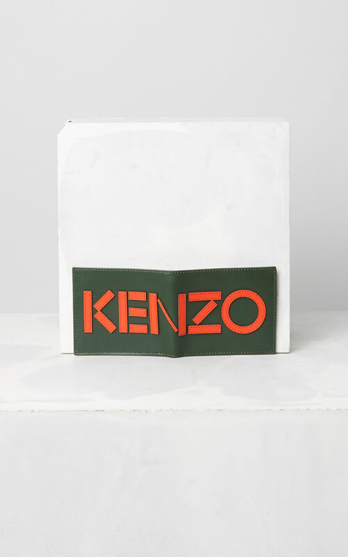 DARK KHAKI Colorblock KENZO Wallet  for unisex