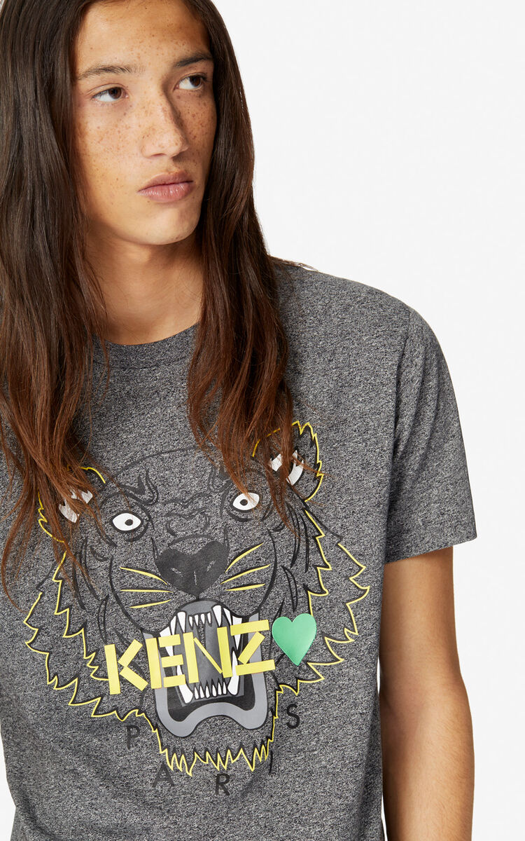 ANTHRACITE Tiger T-shirt 'Capsule Back from Holidays' for women KENZO