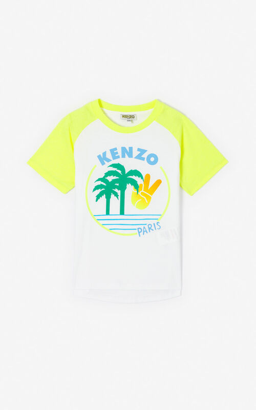 WHITE 'Cali Party' T-shirt. for unisex KENZO