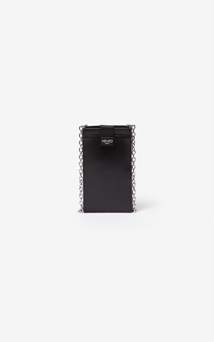 Eye Leather Phone Case With Chain For Accessories Kenzo