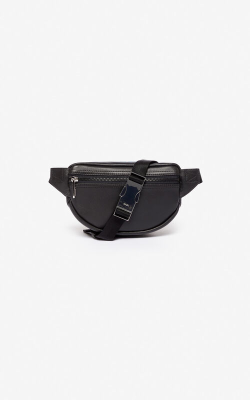 Mini leather 'Kampus' Tiger belt bag for unisex KENZO