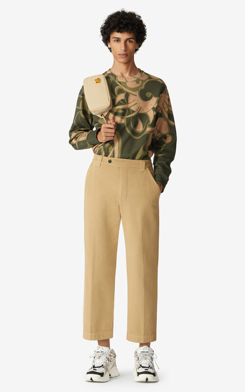 BEIGE Cropped trousers for men KENZO