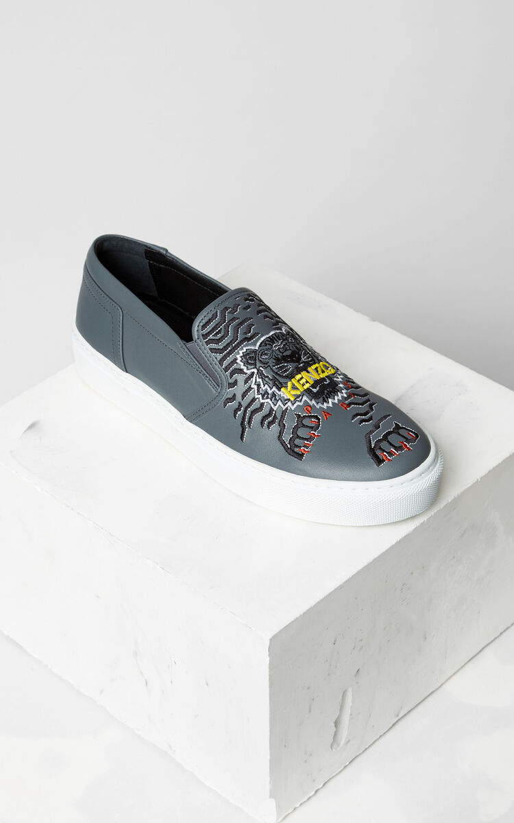 MIDDLE GREY K-Skate' sneaker x 'Géo Tiger' for women KENZO