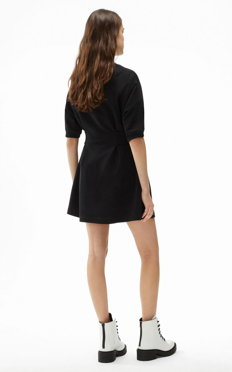 BLACK Tiger Crest fitted sweatshirt dress for women KENZO