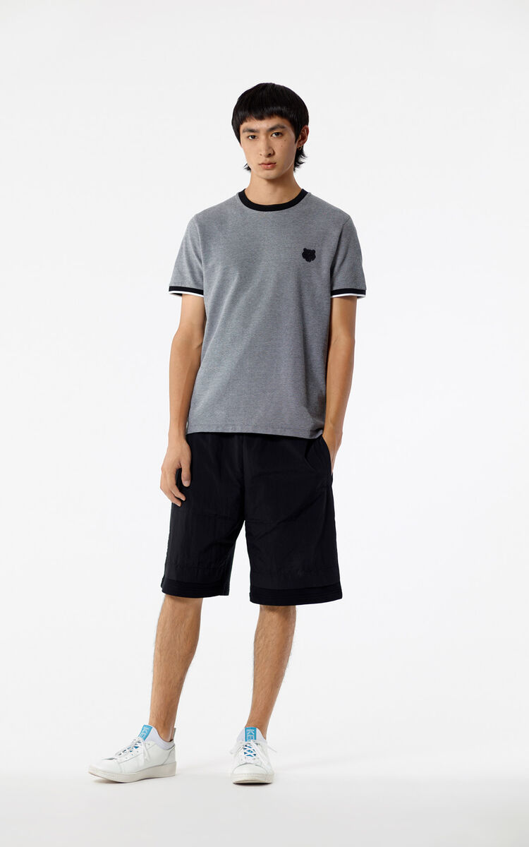 BLACK Fleece shorts for men KENZO