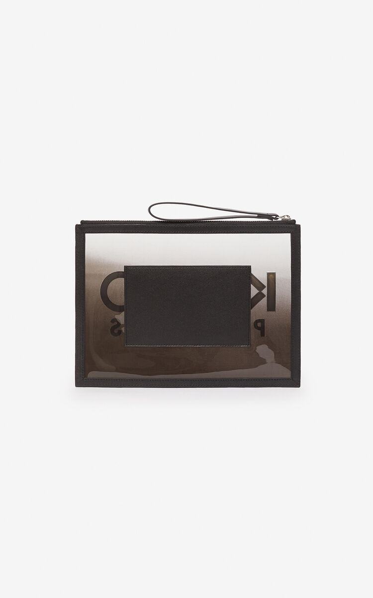 BLACK A4 Kombo clutch for women KENZO
