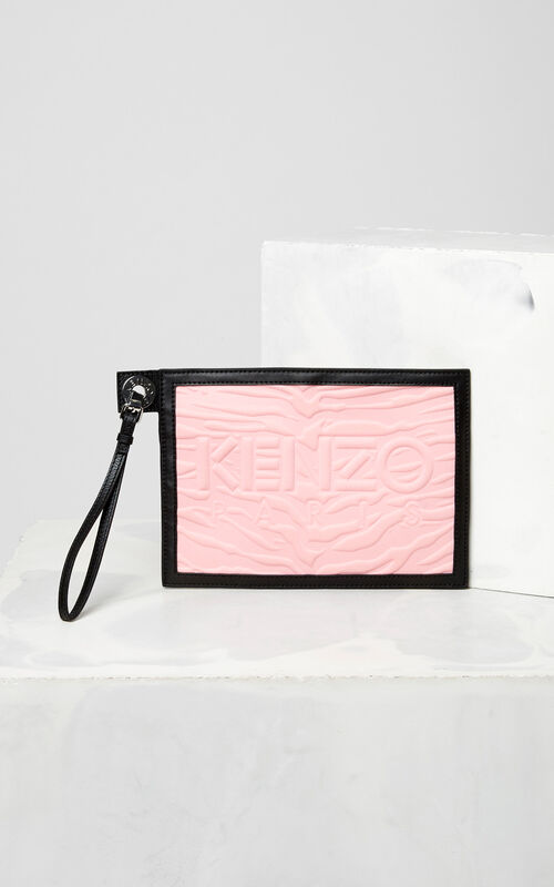 FLAMINGO PINK A5 Kombo clutch for women KENZO
