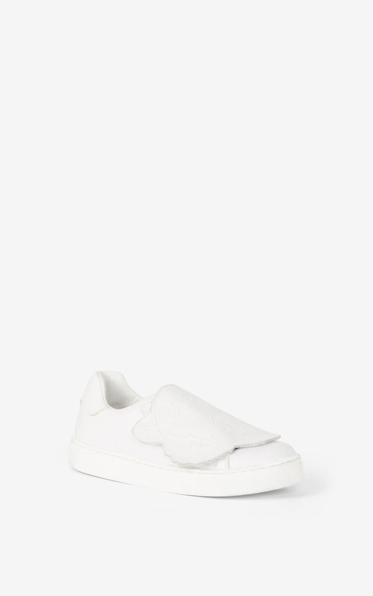 OFF WHITE Tiger leather sneakers for men KENZO