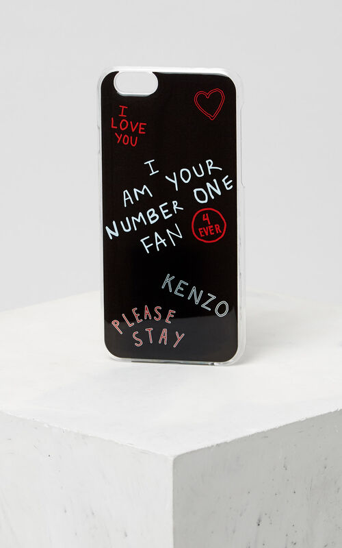I LOVE U iPhone 6+/6S+ case, BLACK, KENZO