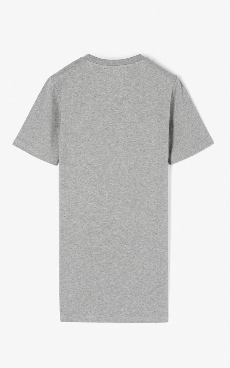 DOVE GREY Crane' T-shirt dress for women KENZO