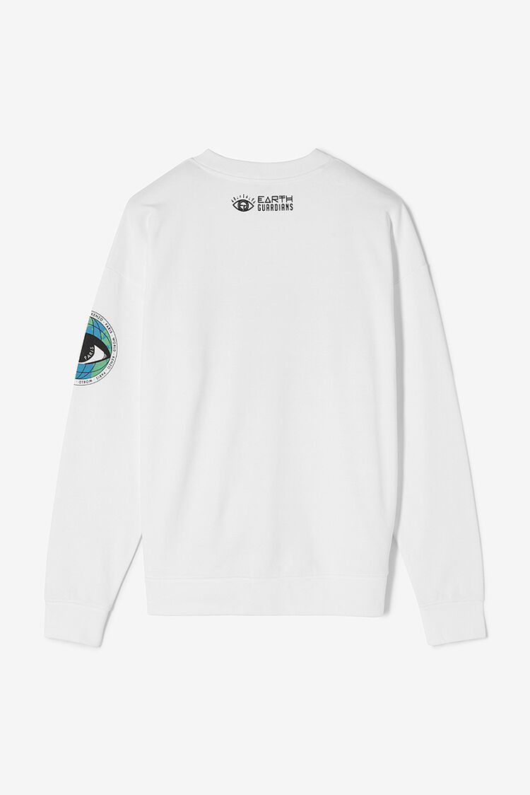 WHITE 'Rise Up' Sweatshirt for men KENZO