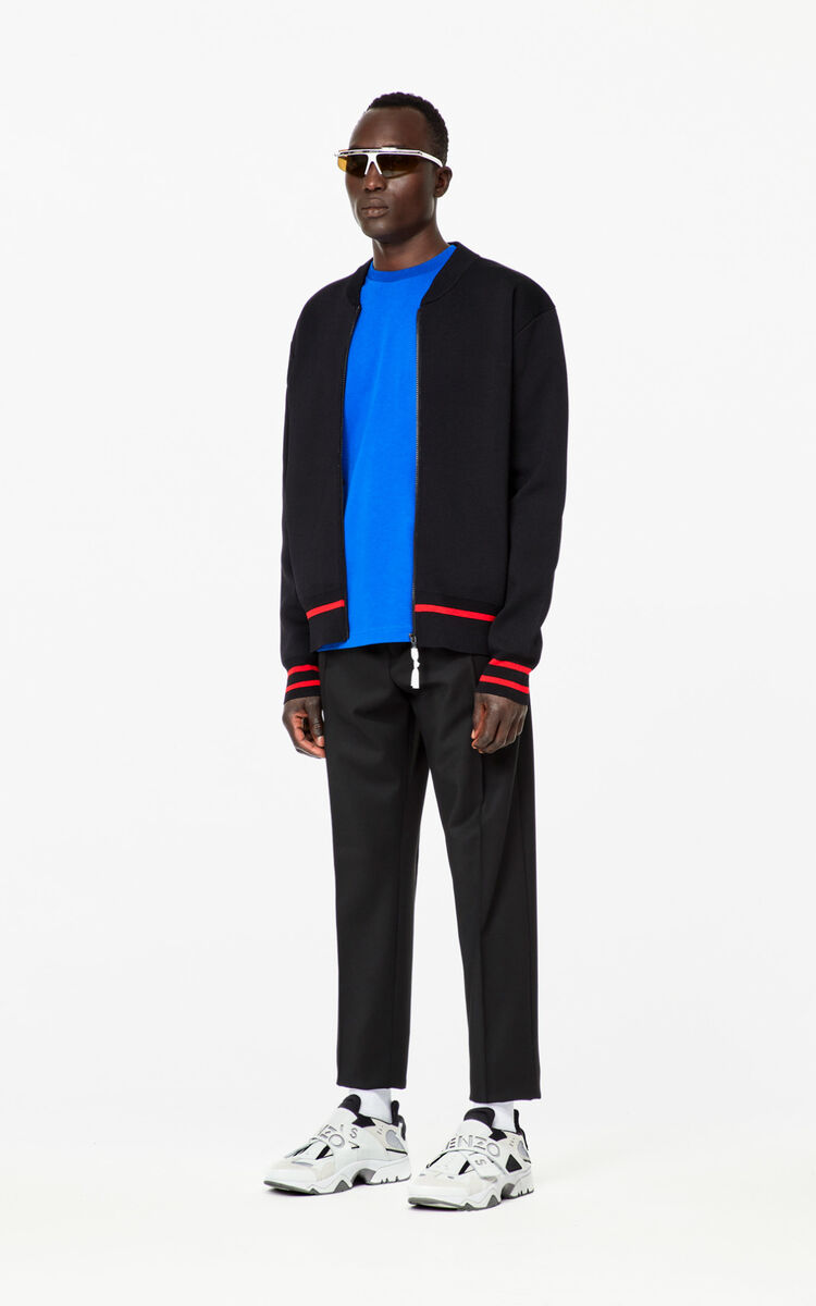BLACK KENZO Paris varsity jacket for men
