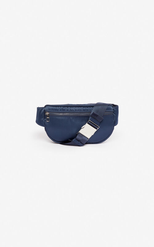 MIDNIGHT BLUE Satin Tiger bumbag 'Holiday Capsule' for unisex KENZO