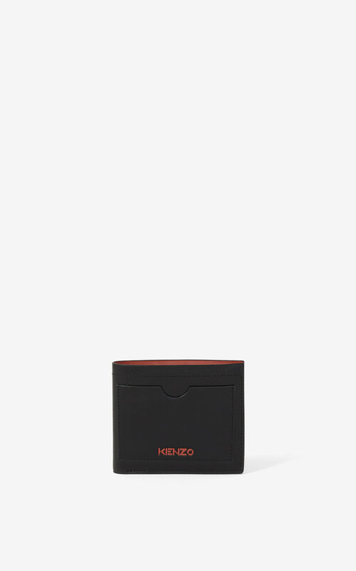 BLACK KENZO Cadet small leather wallet for men