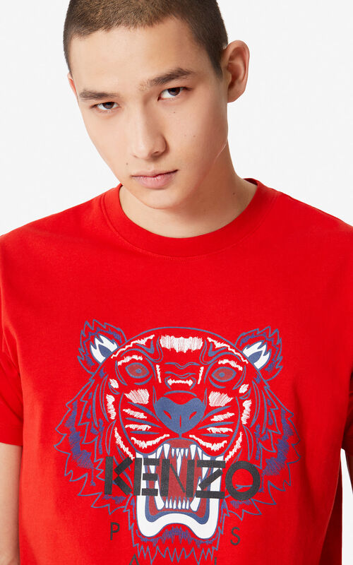 d6ee2a196137 MEDIUM RED Tiger t-shirt for men KENZO ...