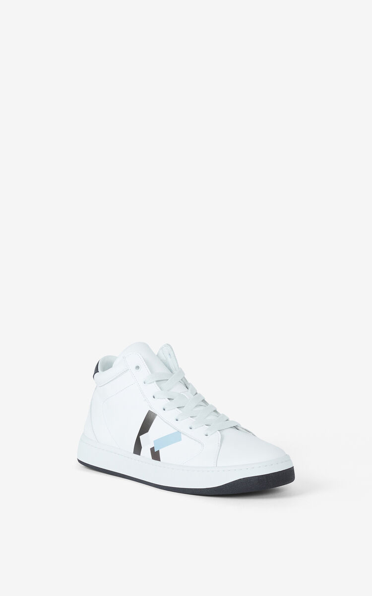 GLACIER KENZO Kourt leather high-top trainers for women