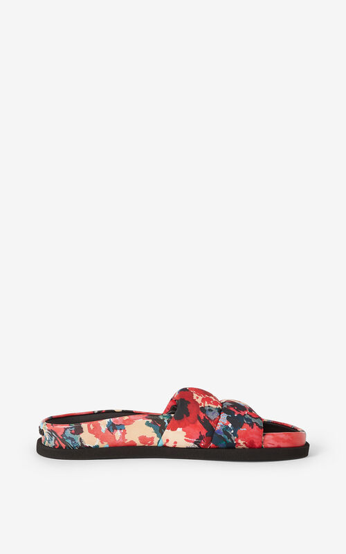 MEDIUM ORANGE Komfy 'Aquarelle' flat mules for unisex KENZO