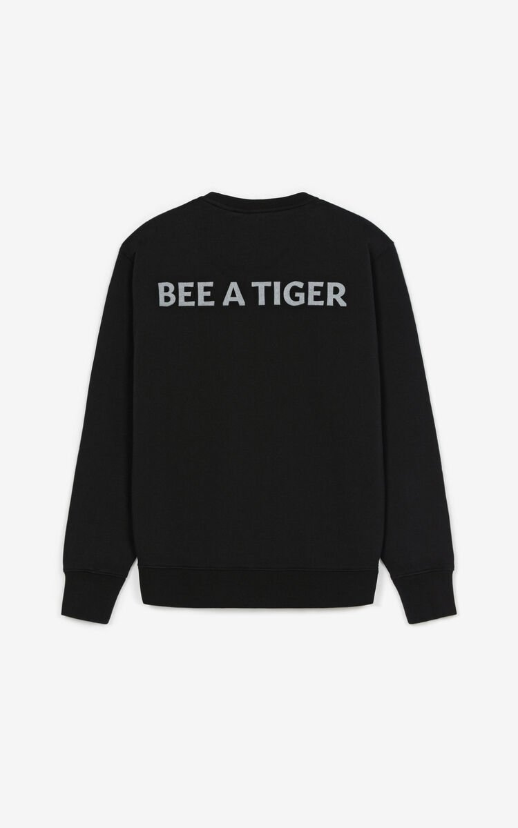 BLACK 'Bee a Tiger' sweatshirt for women KENZO