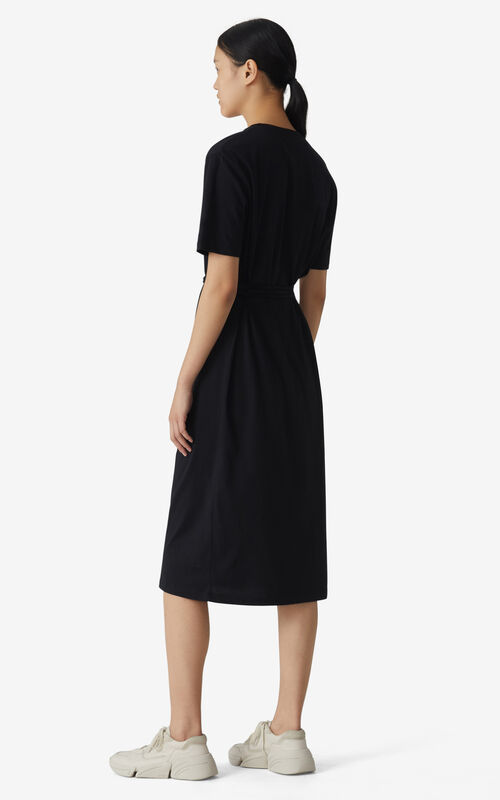 BLACK K Logo T-shirt dress for women KENZO
