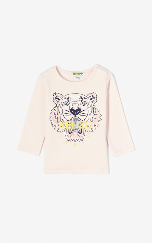 FADED PINK Tiger t-shirt for unisex KENZO