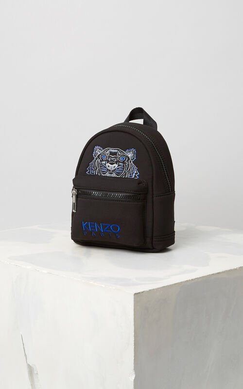 BLACK Mini Neoprene Tiger Backpack for women KENZO