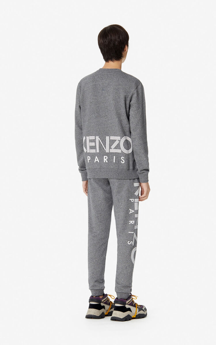 ANTHRACITE KENZO Logo joggers  for men