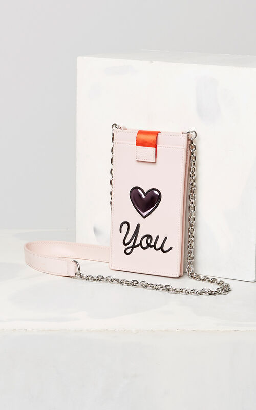 FADED PINK 'Valentine's Day Capsule' Eye chain phone case for unisex KENZO