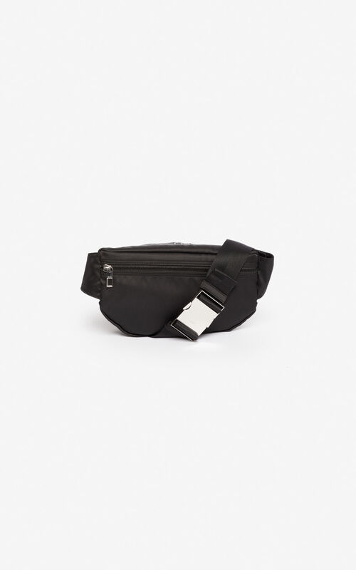 BLACK Satin Tiger bumbag 'Holiday Capsule' for unisex KENZO
