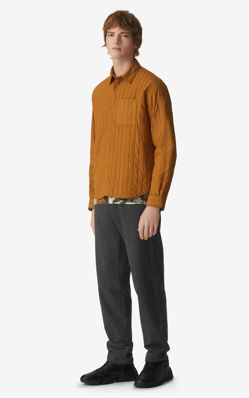 CAMEL Quilted casual shirt for men KENZO