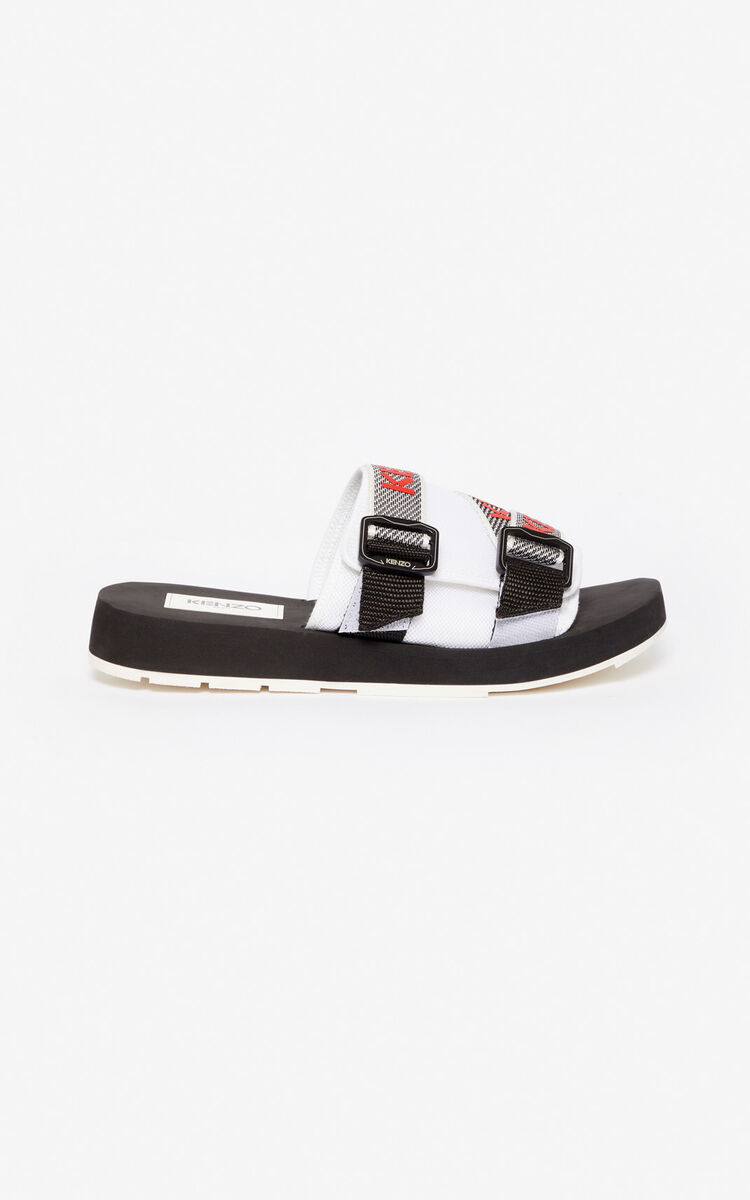 WHITE Papaya mules for unisex KENZO