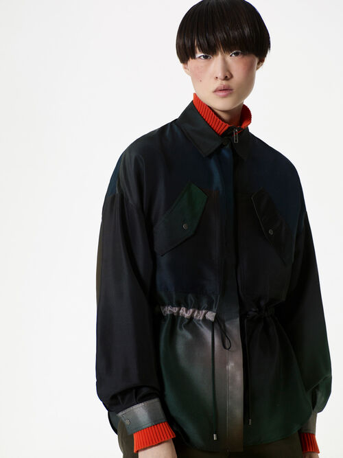 DARK KHAKI Northern Ligths' peplum Shirt for women KENZO