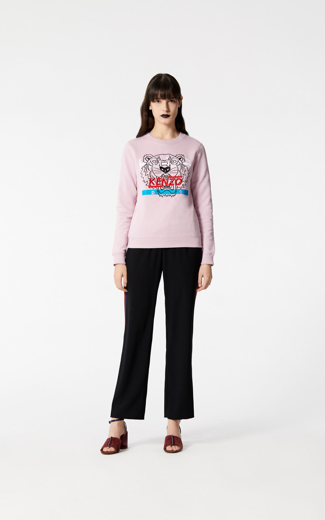 FLAMINGO PINK 'Hyper Tiger' sweatshirt for women KENZO