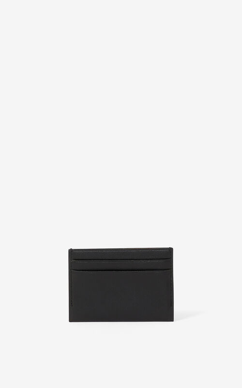BLACK KENZO Cadet leather card holder for men