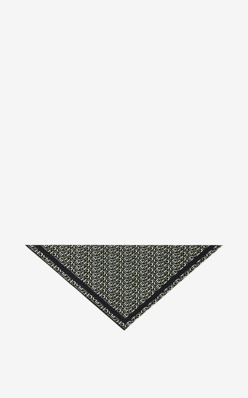 BLACK Silk bandana mask holder for unisex KENZO