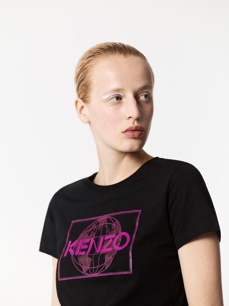 BLACK KENZO World' t-shirt for women