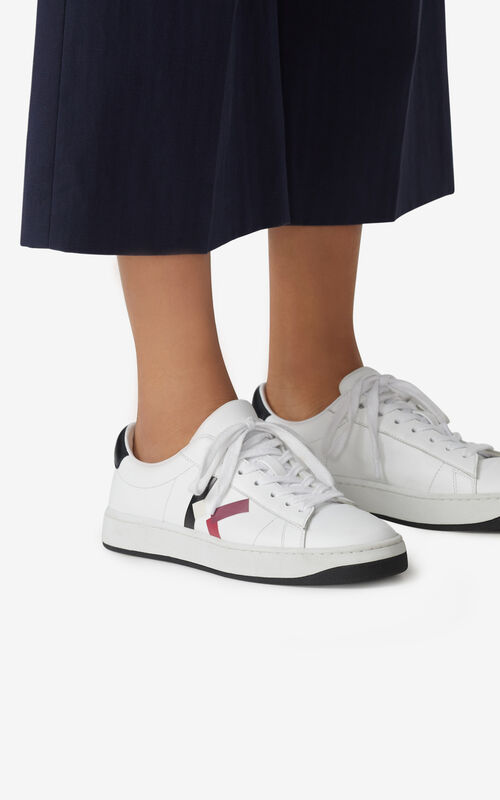 CARMINE KENZO Kourt 'K Logo' leather sneakers for women