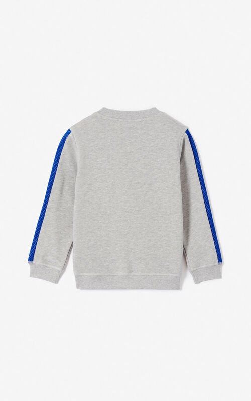 MISTY GREY 'Racing' Tiger sweatshirt for women KENZO