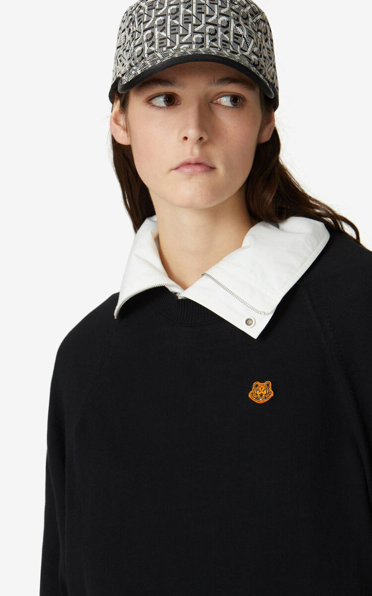 BLACK Tiger Crest jumper for women KENZO